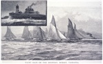Yacht race on the Derwent, Hobart, Tasmania; The Iron pot