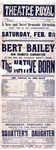 The Bert Bailey new dramatic combination in ... The native born