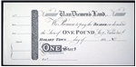 One pound strg. [promissory note]