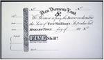 Five shillings [promissory note]