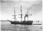 Exploration ship Southern Cross in the Derwent, 1898