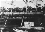 The whaling brig Velocity - owner Dr. W.L. Crowther - on the slip Hobart Town circa 1870