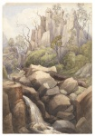 [Mount Wellington and waterfall]