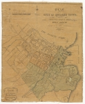 Plan of the city of Hobart Town compiled partly from Frankland's map, & partly from recent surveys