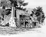Fawkner's Cottage, Austins Ferry (sketch)