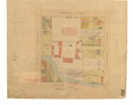 Cover image for Map  - Sprents Page 20  - Bounded by Liverpool, Campbell, Collins and Argyle Streets (Section S) Includes land acquired for General Hospital Hobart