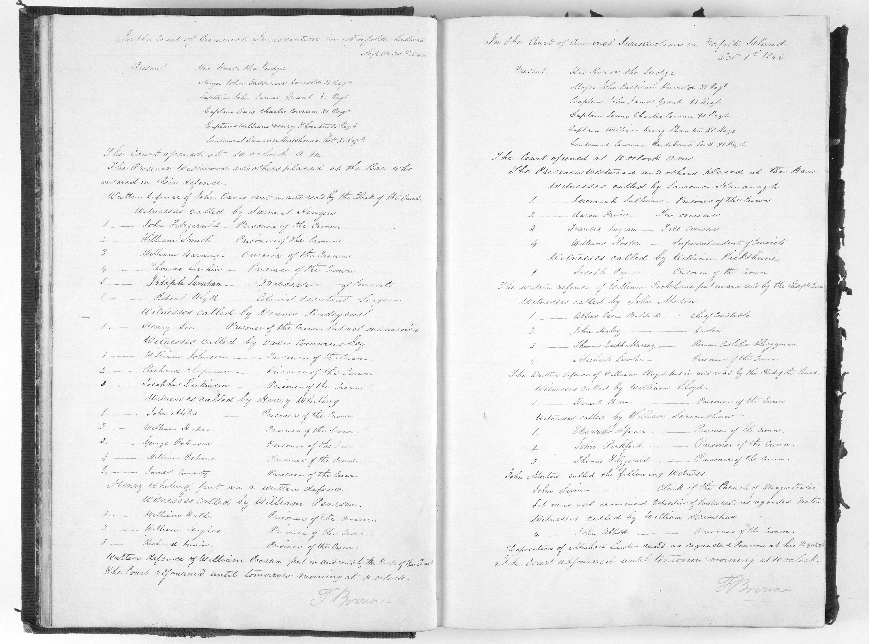 Tasmanian Archives - Norfolk Island - minutes of proceedings